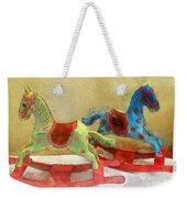 Floral Rocking Horses Weekender Tote Bag