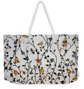 Floral Satin Weekender Tote Bag