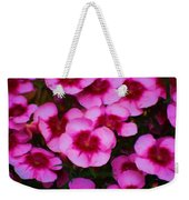 Floral Study In Red And Pink Weekender Tote Bag