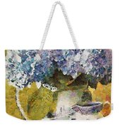 Floral Table Onset In Tiny Bubbles Weekender Tote Bag
