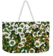 Floral Texture In The Summer Weekender Tote Bag