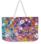 Floral Theme Weekender Tote Bag