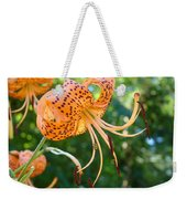 Floral Tiger Lily Flower Art Print Orange Lilies Baslee Troutman Weekender Tote Bag