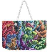 Floral Whirl Weekender Tote Bag