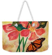 Floral With Butterfly Weekender Tote Bag