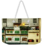 Florence - Boats Under The Ponte Vecchio Sunset - Untextured Weekender Tote Bag