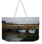 Florence Italy - An Autumn Day At Ponte Vecchio Weekender Tote Bag