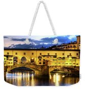 Florence - Ponte Vecchio Sunset From The Oltrarno Weekender Tote Bag