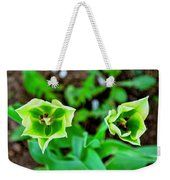 Florescent Green In Stereo Weekender Tote Bag
