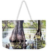 Florida Cypress, Hillsborough River, Fl Weekender Tote Bag