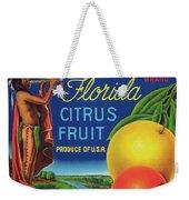 Florida Eureka Citrus Fruit Crate Label Weekender Tote Bag