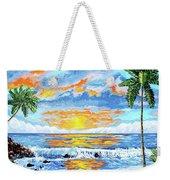Florida Keys Beach Sunset Weekender Tote Bag