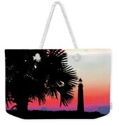 Florida Lighthouse Sunset Silhouette Weekender Tote Bag