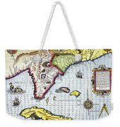 Florida: Map, 1591 Weekender Tote Bag