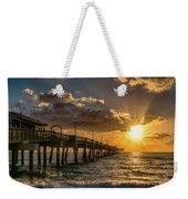 Florida Sunrise At Dania Beach Pier Weekender Tote Bag