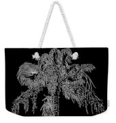 Florida Thatch Palm In Black And White Weekender Tote Bag