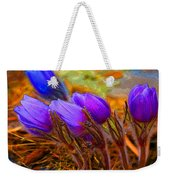 Flourescent Flowers Weekender Tote Bag
