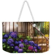 Flower - Hydrangea - Hydrangea And Geraniums  Weekender Tote Bag by Mike Savad