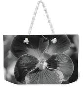 Flower 5 - Black And White Weekender Tote Bag