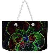 Flower 5 - Glowing Edges Weekender Tote Bag