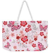 Flower And Butterfly Bj01 Weekender Tote Bag