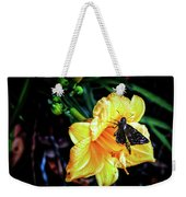 Flower And Butterfly Weekender Tote Bag