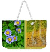 Flower And Fields Weekender Tote Bag
