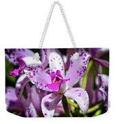 Flower Art - Intimate Orchid 4 - Sharon Cummings Weekender Tote Bag