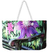 Flower Bench Weekender Tote Bag