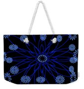 Flower Blue Weekender Tote Bag