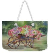 Flower Cart Weekender Tote Bag