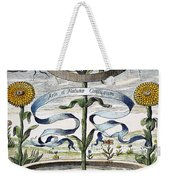 Flower Clock, 1643 Weekender Tote Bag