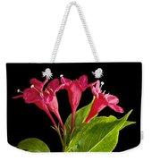Flower Composite Trio Horizontal Weekender Tote Bag