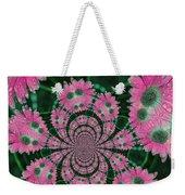 Flower Design Weekender Tote Bag by Karol Livote