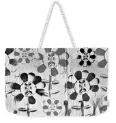 Flower Face B W Weekender Tote Bag