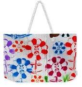 Flower Face Murial Weekender Tote Bag