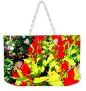 Flower Flames Weekender Tote Bag
