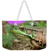 Flower, Frog, Fly Weekender Tote Bag