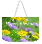 Flower Garden Birthday Card Weekender Tote Bag