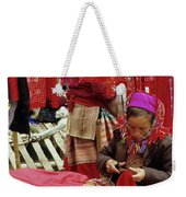 Flower Hmong Fabric Stall Weekender Tote Bag
