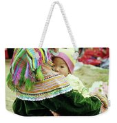 Flower Hmong Mother And Baby 02 Weekender Tote Bag