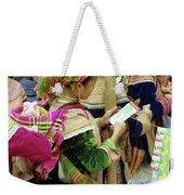 Flower Hmong Mother And Baby Weekender Tote Bag