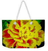 Flower In Abstract With Black Background Weekender Tote Bag