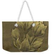 Flower In Sepia Weekender Tote Bag