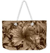 Flower In Sepia Weekender Tote Bag