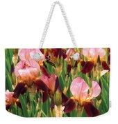 Flower - Iris - Gy Morrison Weekender Tote Bag by Mike Savad