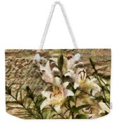 Flower - Lily - White Lily Weekender Tote Bag