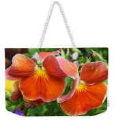 Flower Lips Weekender Tote Bag