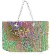 Flower Meadow Line Weekender Tote Bag