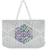 Flower Of Life Abalone Shell On Pearl Weekender Tote Bag